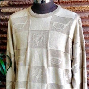 Made in Canada Oatmeal Cotton Golf Sweater